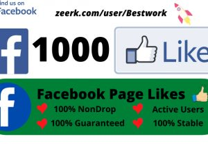 I will add 1000 Facebook Page Likes Non-drop Permanent Lifetime Guaranteed