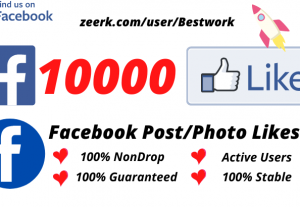 I will Add 10000 Facebook Post/Photo Likes NonDrop Lifetime Guaranteed