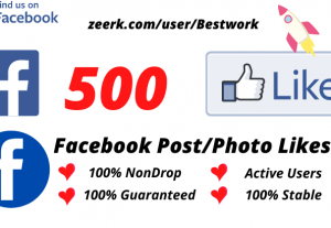I will Add 500 Facebook Post/Photo Likes NonDrop Lifetime Guaranteed