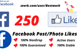 I will Add 250 Facebook Post/Photo Likes NonDrop Lifetime Guaranteed