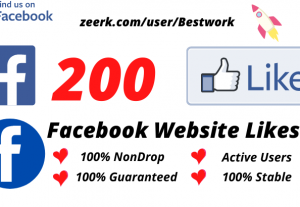 I will Add 200 Facebook Website Likes NonDrop Lifetime Guaranteed