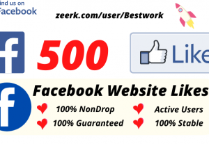 I will Add 500 Facebook Website Likes NonDrop Lifetime Guaranteed