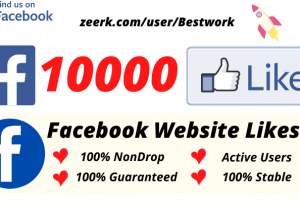 I will Add 10000 Facebook Website Likes NonDrop Lifetime Guaranteed