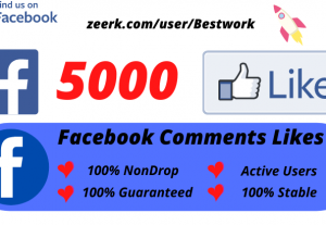 I will Add 5000 Facebook Comments Likes NonDrop Lifetime Guaranteed