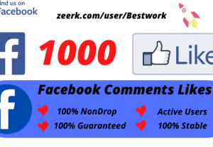 I will Add 1000 Facebook Comments Likes NonDrop Lifetime Guaranteed