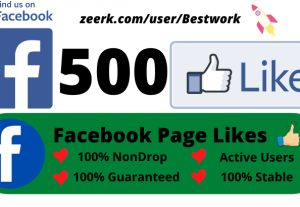 I will Add 500 Facebook Page Likes Permanent non-drop Lifetime Guaranteed