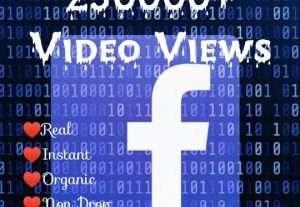 Promote your Facebook Post with 250000+ Video Views at Instant with High quality Promotions,Real and 100% Organic.