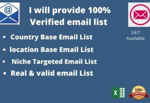 I  will provide a 100% Verified Email List