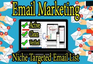 I will provide active niche targeted email list