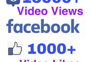 I will add 15000+ Video Views and 1000+ Video Likes on Facebook ! Very High Quality and Non Drop !