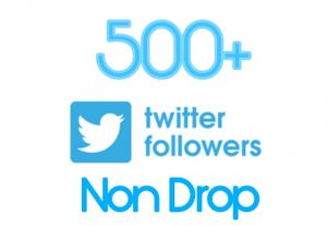 500+ TWITTER FOLLOWER  REAL ACTIVE AND NON DROP