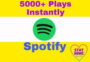 Add High Quality and Non Drop 5000+ Spotify Plays