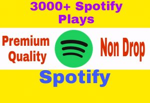Add 3000+ Organic and High Quality Spotify Plays