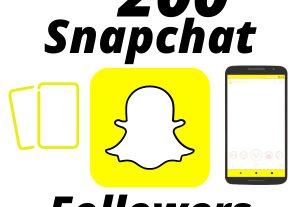 I will Provide 200 Snapchat Followers High-Quality Lifetime Guarantee
