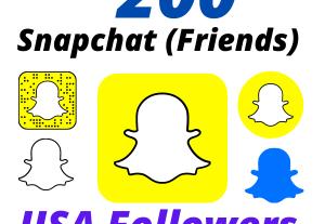 I will Provide 200 USA Snapchat Followers High-Quality Lifetime Guarantee