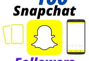 I will Provide 100 Snapchat Followers High-Quality Lifetime Guarantee