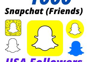 I will Provide 1000 USA Snapchat Followers High-Quality Lifetime Guarantee