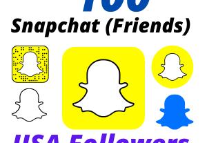 I will Provide 100 USA Snapchat Followers High-Quality Lifetime Guarantee