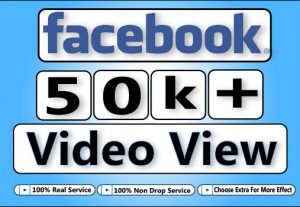Get 50000+  Facebook HQ Video View For 5$