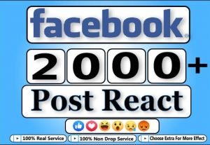 GET 2000+ Facebook HQ And Exclusive Post React For $5