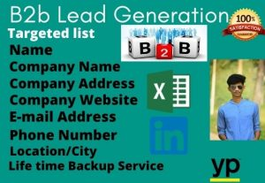 I will provide valid lead generation service for you
