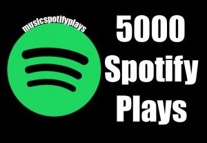 5,000 to 6,000 Real Safe HQ Spotify Streams premium Plays Music Advertisement Promotion Royalties eligible