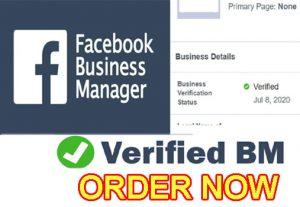 I will create a verified Facebook business manager with ads account