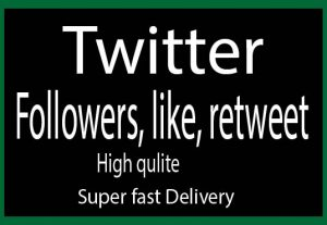 300 twitter followers non drop and fast delivery