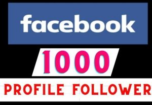 Get 1000+ Facebook Profile Followers instant, Real user, Non-drop, Lifetime guaranteed