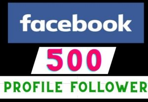 Get 500+ Facebook Profile Followers instant, Real user, Non-drop, Lifetime guaranteed