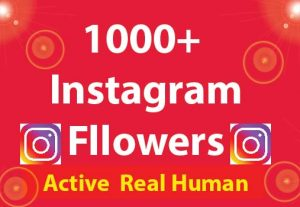 1000+ Instagram Followers with 100% Non Drop guaranteed & Real High Quality
