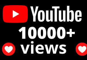 I will add 10000+ YouTube views and 80 hours watch time