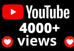 I will add 4000+ views and 40 hours watch time