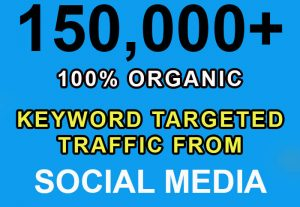 150,000+ keyword targeted traffic from Google, Twitter, YouTube etc for $8