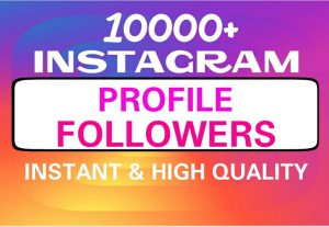 Add 10000+ guaranteed Instagram followers professionally