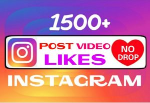 Add 1500 Instagram Non drop Likes instantly