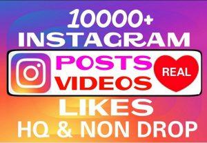 Add 10000+ Instagram non drop Likes professionally