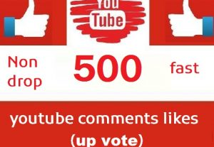 500 youtube comments likes (upvote) instant | Life Time Guarantee