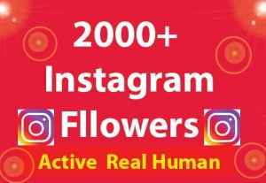 2000+ Instagram Followers with 100% Non Drop guaranteed & Real High Quality