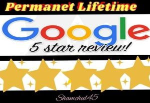 I will give you a lifetime guaranteed 7 permanent google review for your website