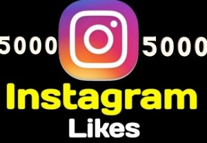 5000+ Instagram Likes Instant, active user, Non-drop, and lifetime guaranteed