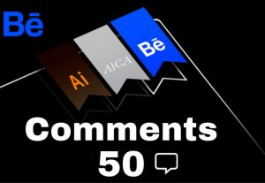 Get +50 Behance Comments Promotion top