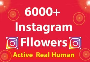6000+ Instagram Followers with 100% Non Drop guaranteed & Real High Quality