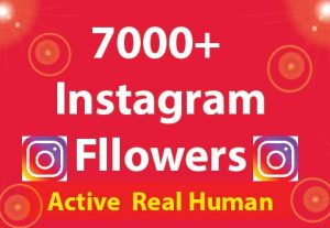 7000+ Instagram Followers with 100% Non Drop guaranteed & Real High Quality