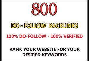 800 DoFollow back links for $4