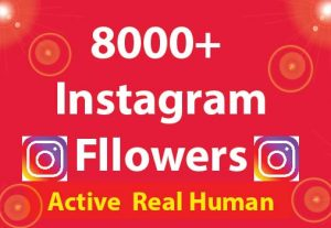 8000+ Instagram Followers with 100% Non Drop guaranteed & Real High Quality