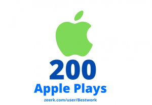 I will add 200 Apple Plays Lifetime Guaranteed