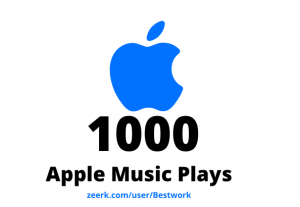 I will add 1000 Apple Music Plays Lifetime Guaranteed