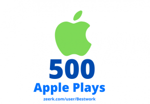 I will add 500 Apple Plays Lifetime Guaranteed