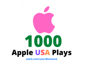 I will add 1000 Apple USA Plays Lifetime Guaranteed